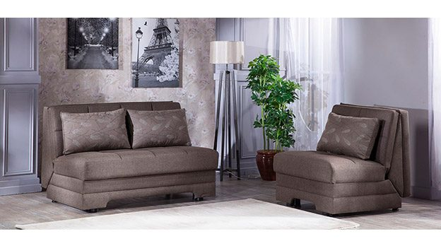 twist astoral light brown loveseat bed