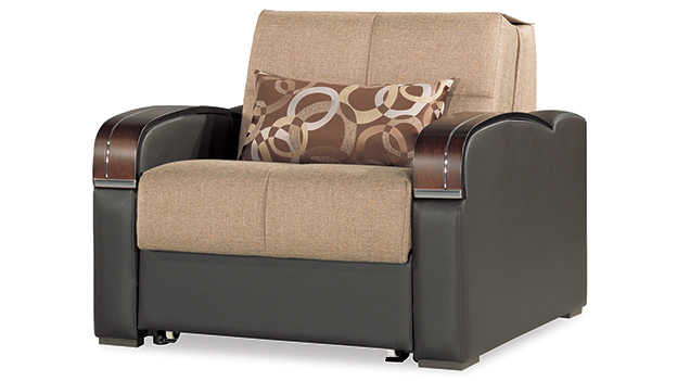Oslo - Chair Bed - Brown