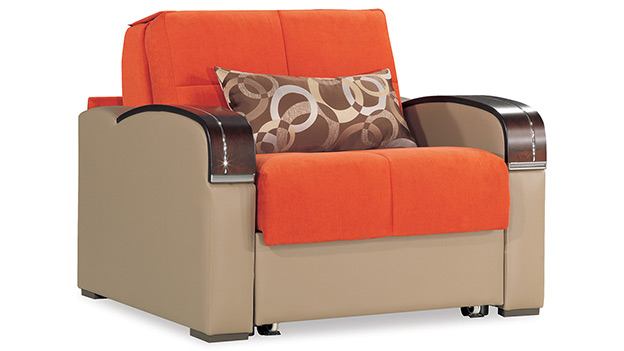 Oslo Chair Bed - Orange
