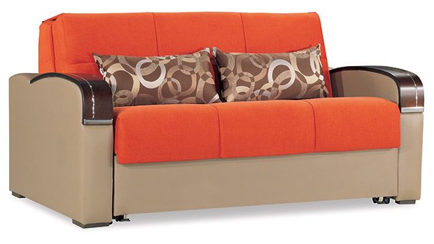 Oslo Loveseat Bed Orange