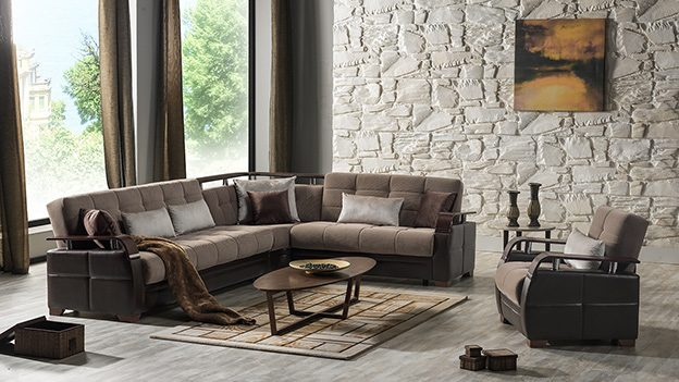 Dogal Sectional (Simena Marisa Taupe)