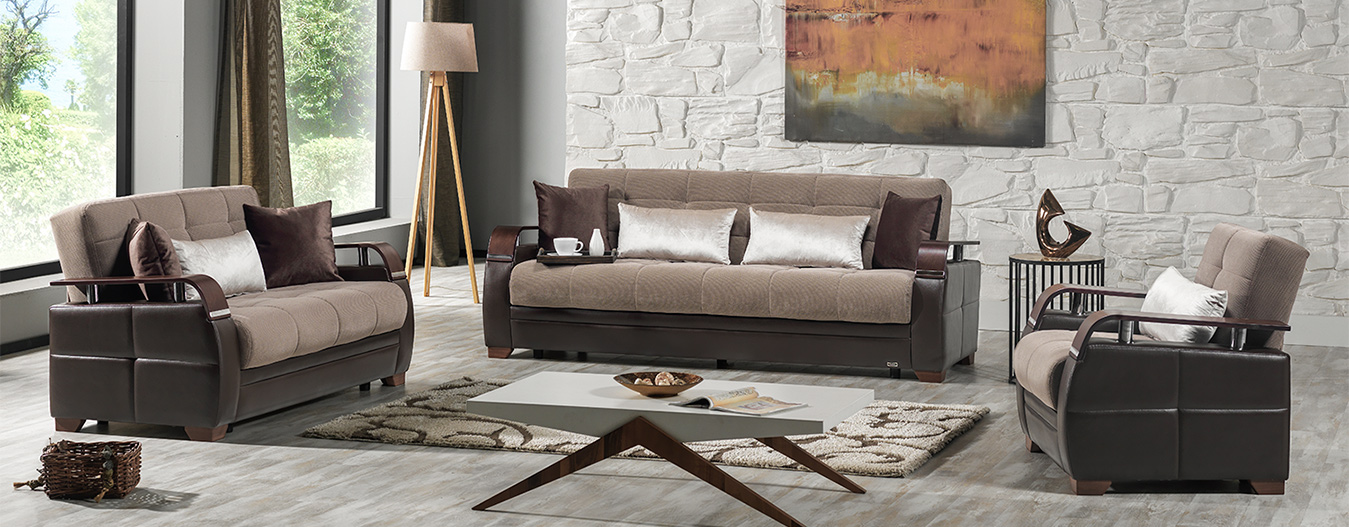 Dogal Sofabed (Simena Marisa Light Brown)