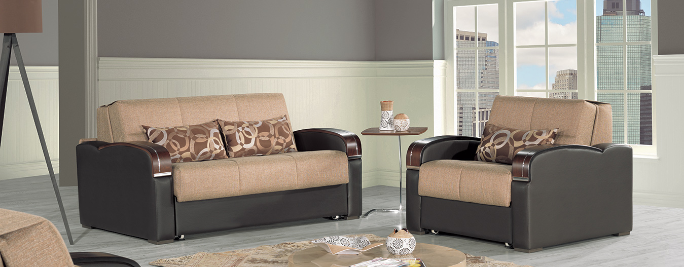 Oslo Loveseat bed - Brown