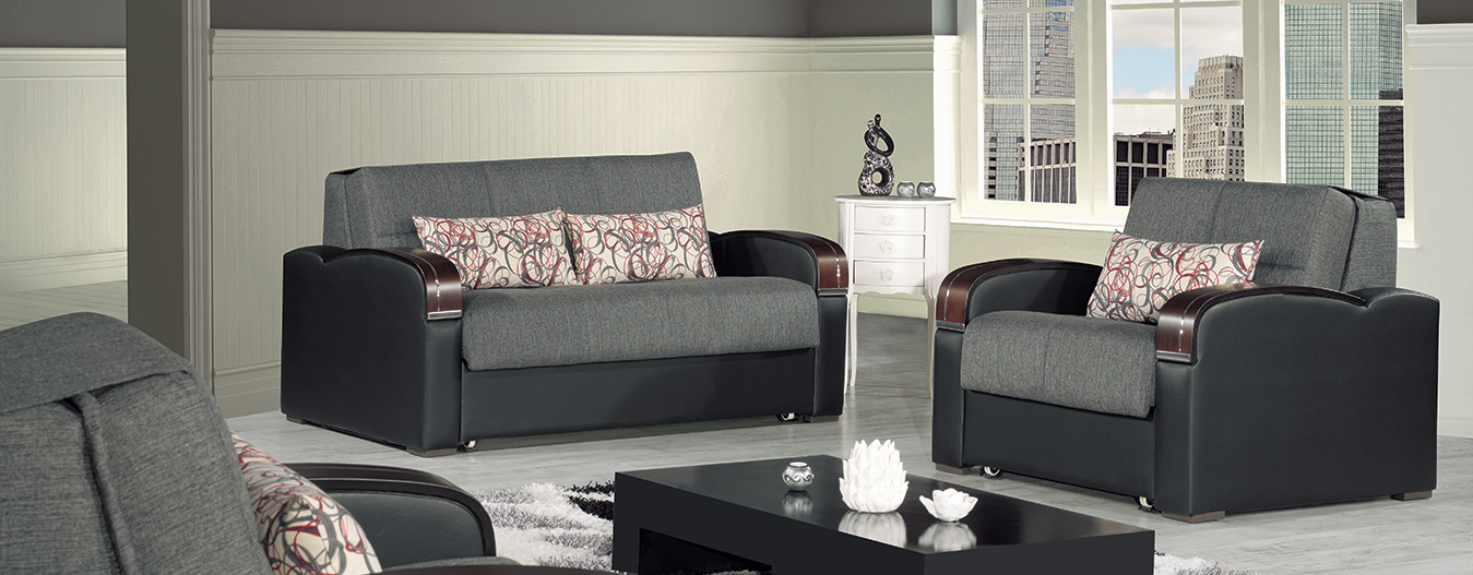 Oslo loveseat bed gray