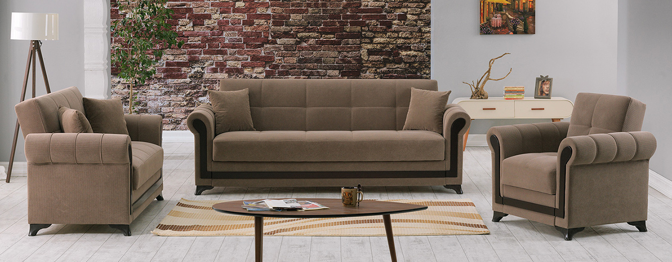 Lovella Marissa Taupe Sofabed