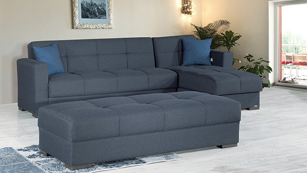 Capella Sectional - Denim Dark Blue