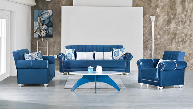 Monroe Sofabed – Riva Dark Blue