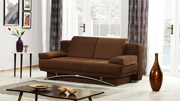 Fontana Sofa Bed - Royal Brown (Queen Size)