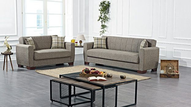 Barato sofabed tan color