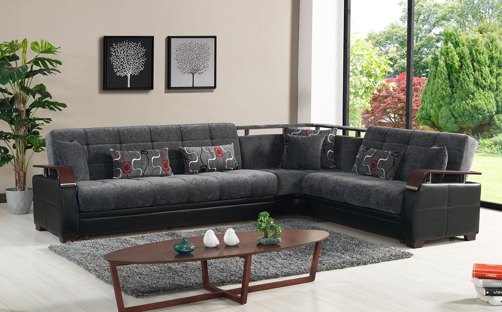 Dogal Sectional Sport Gray