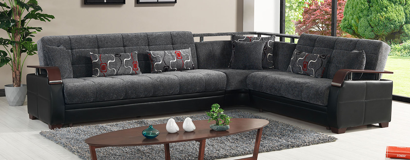 Dogal Sectional Gray